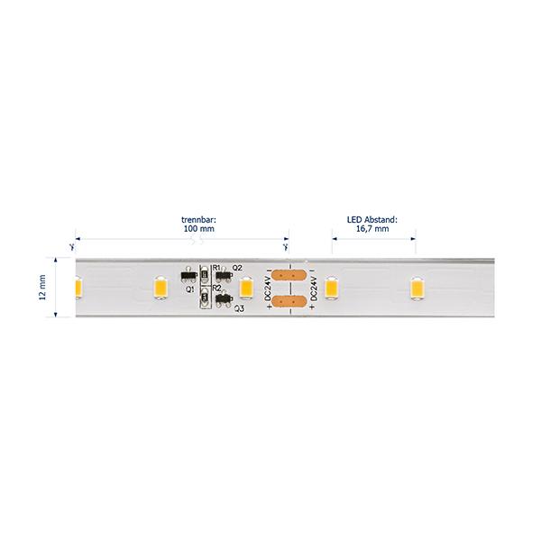 10W/m Expert LED-Streifen 4000K 10m LONG DISTANCE 60LED/m IP68 24V 656lm/m RA95