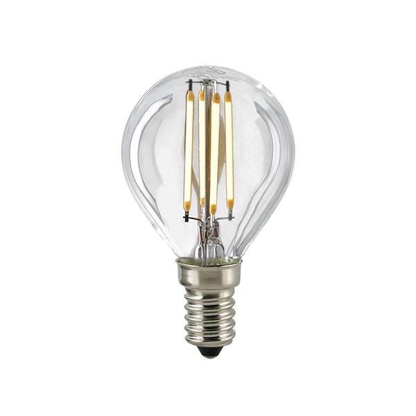 2,5W LED-FILAMENT KUGELLAMPE KLAR E14 2700K DIM -Abverkaufsartikel-