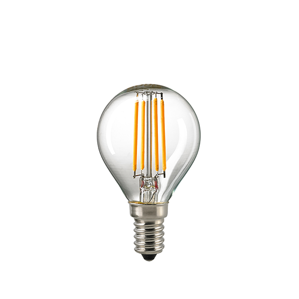 5W LED-FILAMENT KUGEL KLAR E14 2700K RA95 DIM -Abverkaufsartikel-