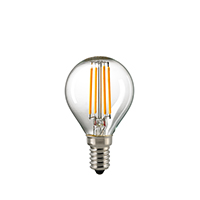 4,5W LED-FILAMENT KUGEL KLAR E14 2700K DIM