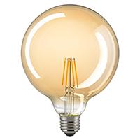 4,5W Globe 125mm Filament gold E27 420lm 2500K dim