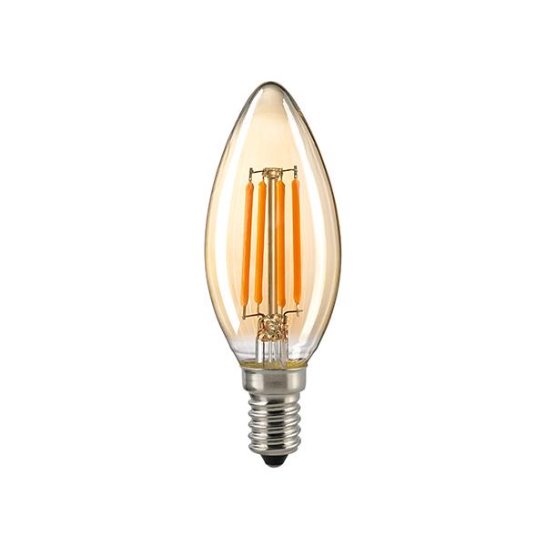 2,2W Kerze Filament gold E14 220lm 2400K dim
