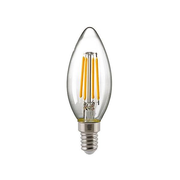 5W Kerze Filament klar E14 630lm 2700K dim
