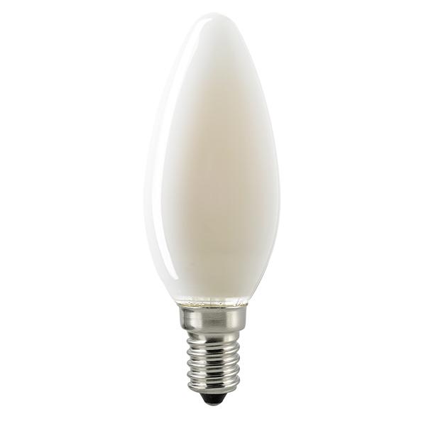 4,5W Kerze Filament matt E14 470lm 2700-2200K dtw
