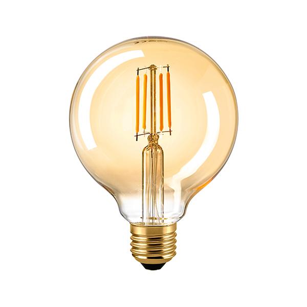 10W Globe 95mm Filament gold E27 930lm 2500K dim