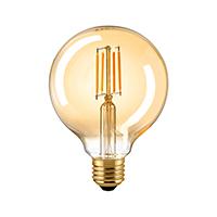 Vorschau: 10W Globe 95mm Filament gold E27 930lm 2500K dim