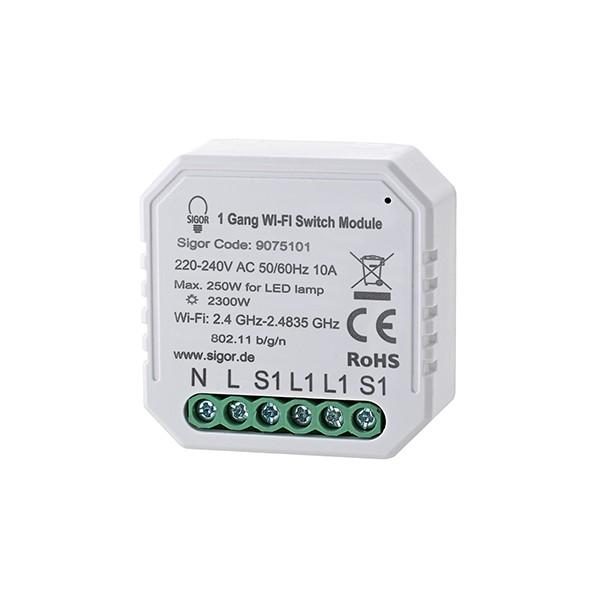 Empfänger SHAIRE Schalter 1 Kanal 150W 46x46x19mm Doseneinbau