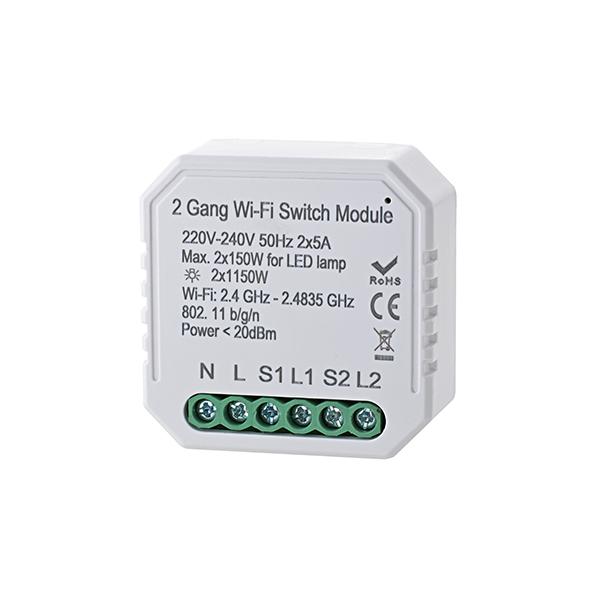 Empfänger SHAIRE Schalter 2 Kanal 150W 46x46x19mm Doseneinbau