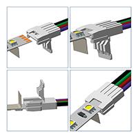 Vorschau: Direktverbinder für 8mm Streifen einfarbig