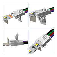 Vorschau: Direktverbinder für 10mm Streifen einfarbig
