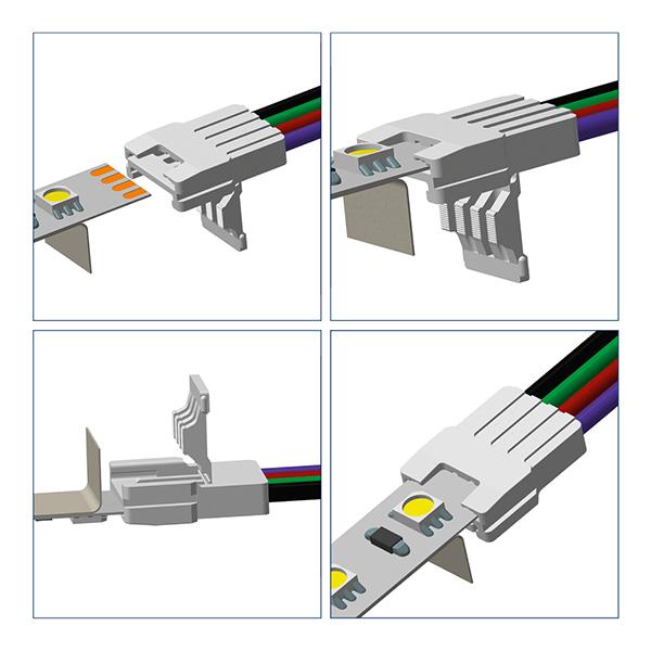 Einspeisung für 10mm Streifen RGB
