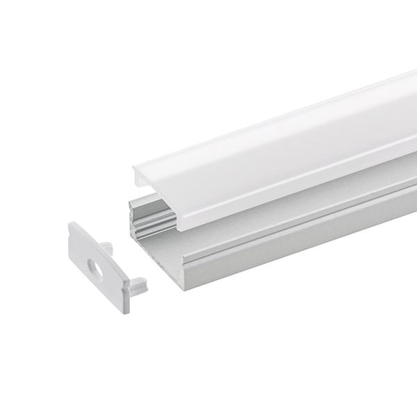 2m Aufbauprofil Flach 12