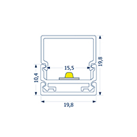 Vorschau: 1m Aufbauprofil Montageschiene 15