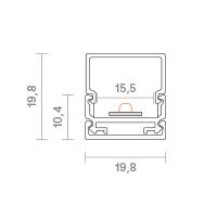 Vorschau: 2m Aufbauprofil Montageschiene 15
