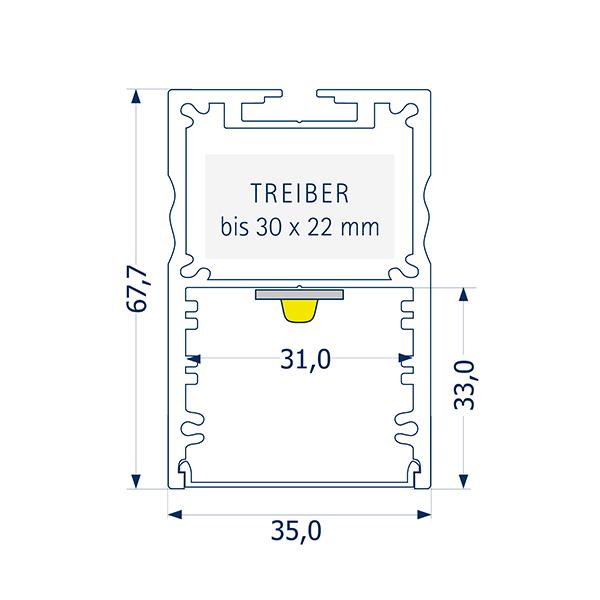1m Pendelprofil 31 Treiber