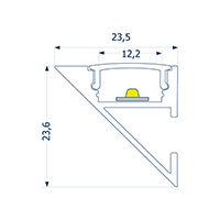 Vorschau: 2m Wandprofil Up or Down 12