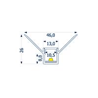 Vorschau: 1m Profil randlos Unterputz innere Ecke 10 -Abverkaufsartike-
