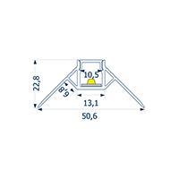 Vorschau: 1m Profil randlos Unterputz äußere Ecke 10 -Abverkaufsartikel-