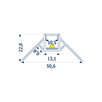 Vorschau: 2m Profil randlos Unterputz äußere Ecke 10 -Abverkaufsartikel-