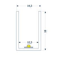 Vorschau: 0,5m Profil 12 biegbar SIDE Streifen