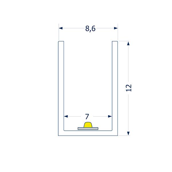 0,5m Profil biegbar 7 ART SIDE
