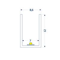 Vorschau: 0,5m Profil biegbar 7 ART SIDE