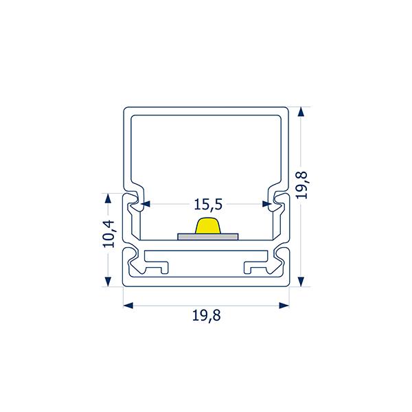 4m Aufbauprofil Montageschiene 15
