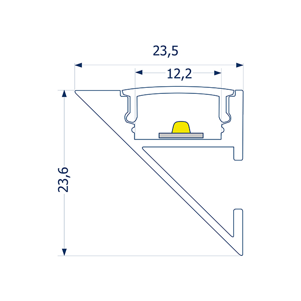 4m Wandprofil Up or Down 12