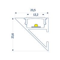 Vorschau: 4m Wandprofil Up or Down 12