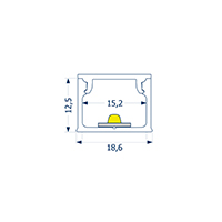 Vorschau: 2m Aufbauprofil 15